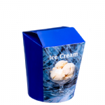1.1Ltr Waxed Ice Cream Box - Blue